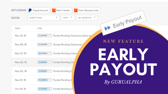 Fiverr Early Payout